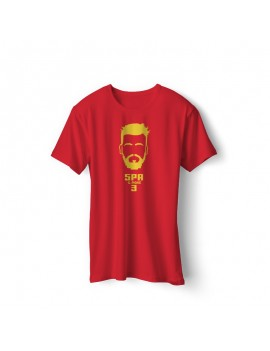 Spain Men's Soccer T-Shirt Player Pique