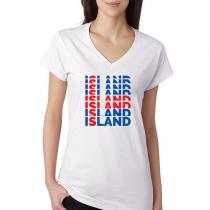 Island Women's V Neck Tee T...