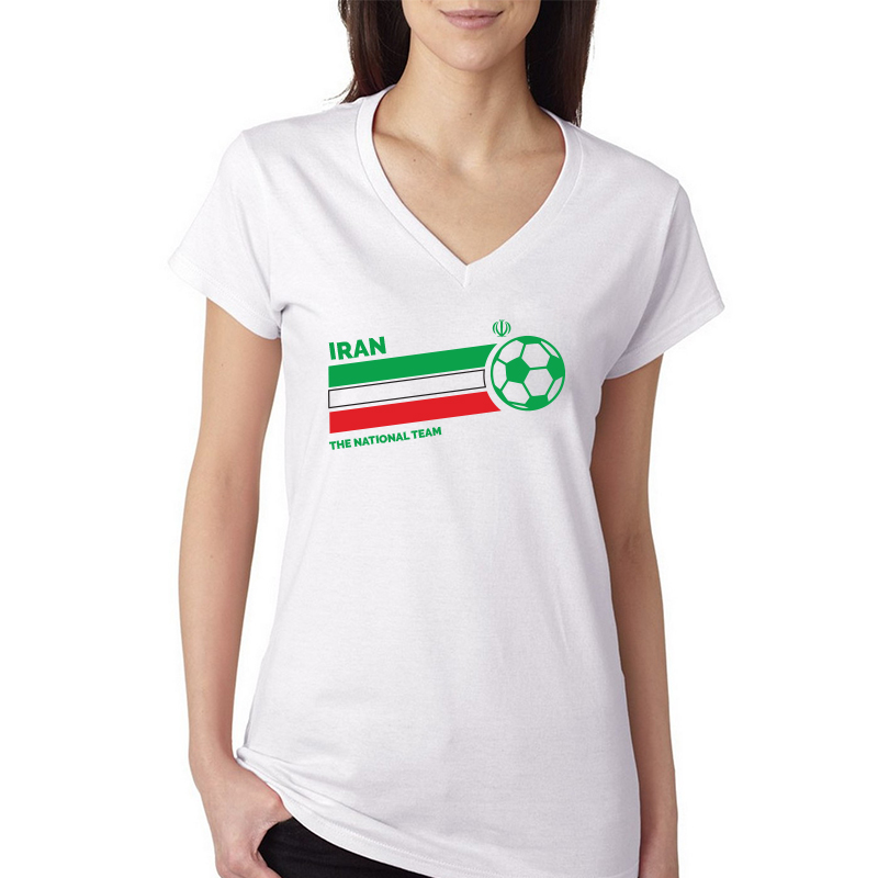 sale retailer 304c7 b817f Iran Women's V Neck Tee T Shirt Jersey Iran letters