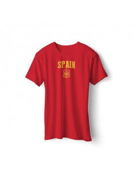 Spain Men's Soccer T-Shirt world cup