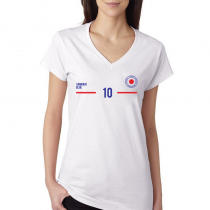 Japan Women's V Neck Tee T Shirt Jersey 10 Shield