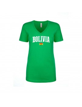 Bolivia World Cup Women's V Neck  T-Shirt