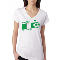 Nigeria Women's V Neck Tee...
