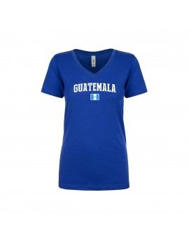 Guatemala World Cup Women's V Neck  T-Shirt