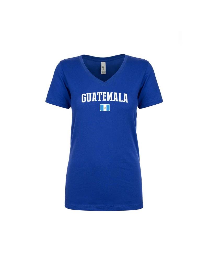 Guatemala World Cup Women's V Neck  T-Shirt