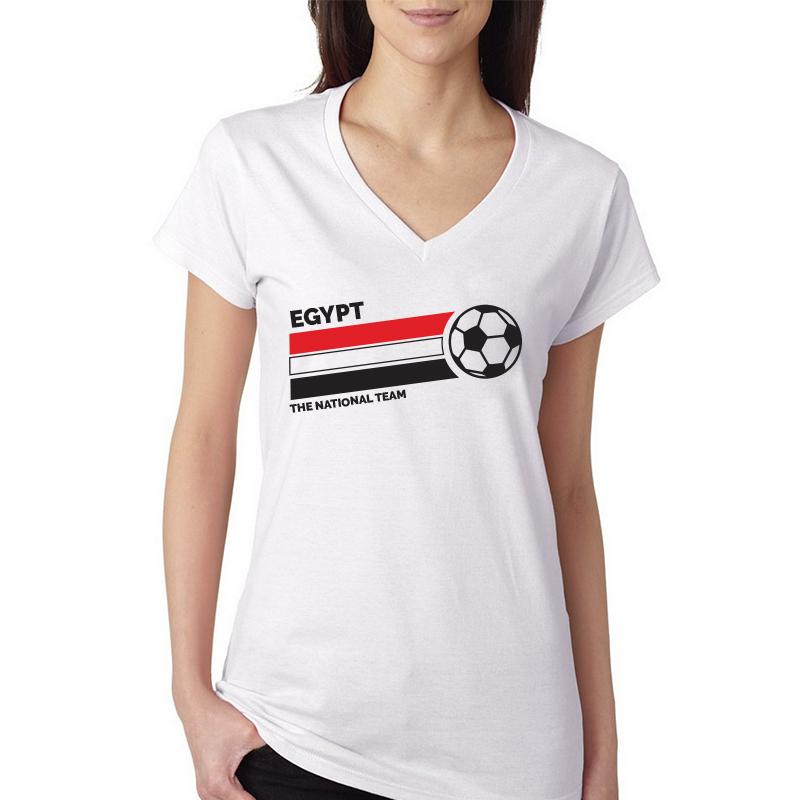 c4ccdcf5e Egypt Women's V Neck Tee T Shirt Jersey The national team ball