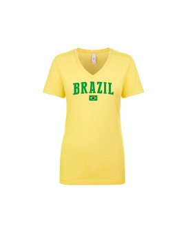 Brazil World Cup Women's V Neck  T-Shirt