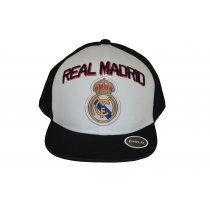 Real Madrid Child Cap Snap back Hat Black and White Big Logo