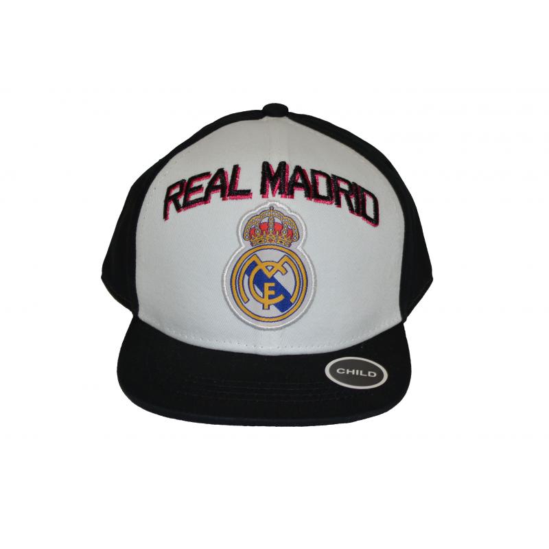 Real Madrid Child Cap Snap back Hat Black and White Big Logo