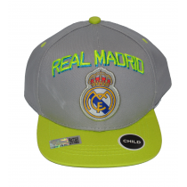 Real Madrid Child Cap Snap back Hat Gray/Neon