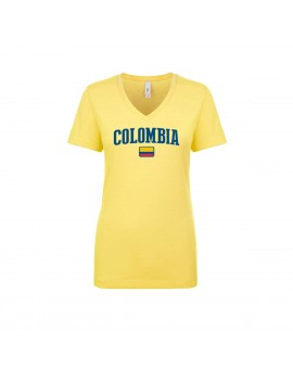 Colombia World Cup Women's V Neck T-Shirt
