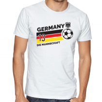 Germany Men's Round Neck  T Shirt Jersey  13 ball