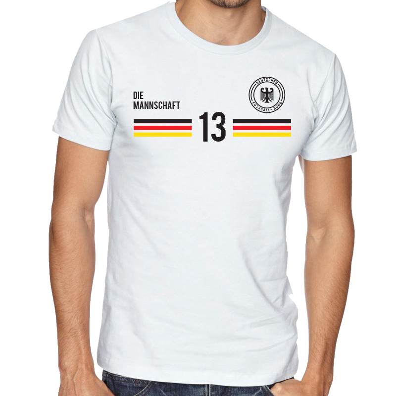 Germany Men's Round Neck  T Shirt Jersey  13 Shield