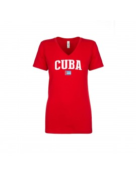 Cuba World Cup Women's V Neck T-Shirt