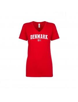 Denmark World Cup Women's V Neck T-Shirt