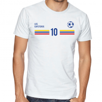 Colombia Men's Round Neck  T Shirt Jersey 10 ball  Available colors, heather gray, white and other colors as you request.