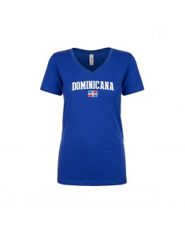 Dominican Republic World Cup Women's V Neck T-Shirt