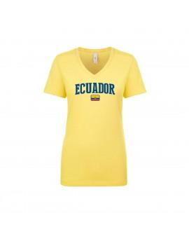 Ecuador World Cup Women's V Neck T-Shirt