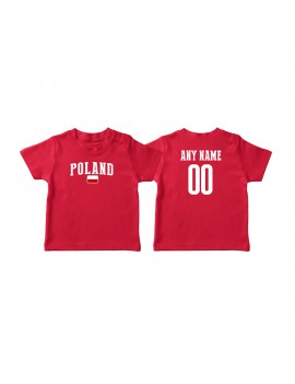 Poland Country Flag World Cup Baby Soccer T-Shirt