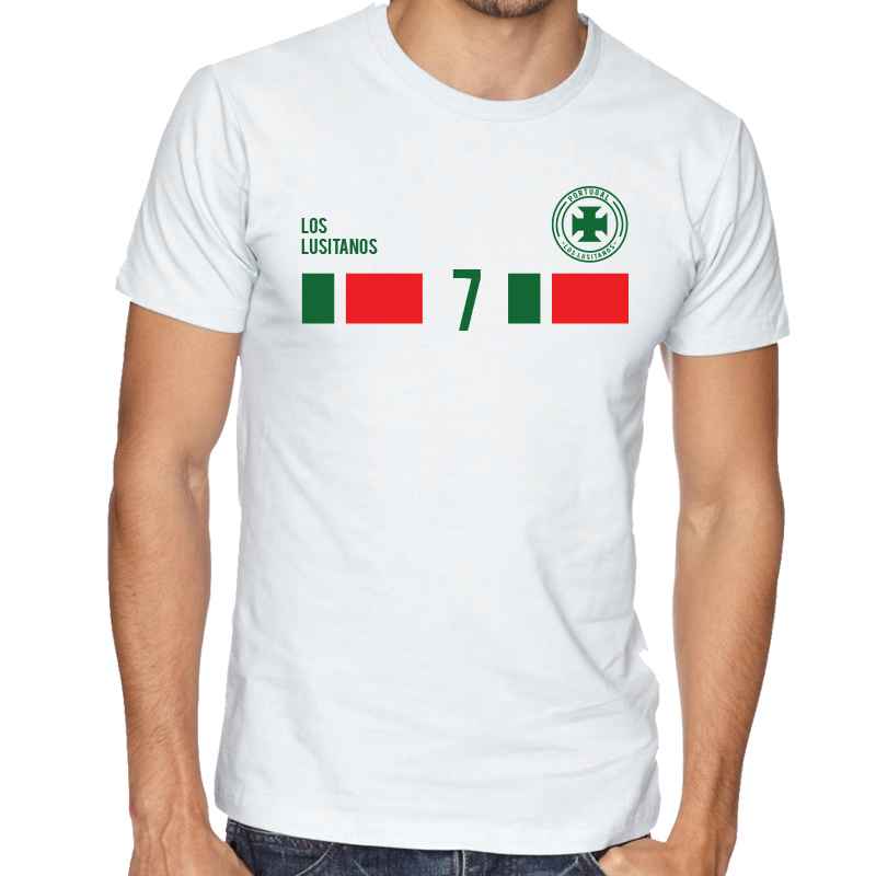 Portugal Men's Round Neck  T Shirt Jersey  7 Shield