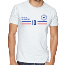 France  Men's Round Neck  T Shirt Jersey 10 shield