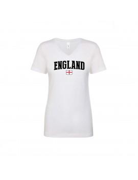 England World Cup Women's V Neck T-Shirt