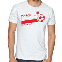 Poland Men's Round Neck  T Shirt Jersey   Biato ball