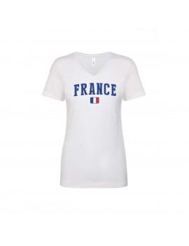France World Cup Women's V Neck T-Shirt