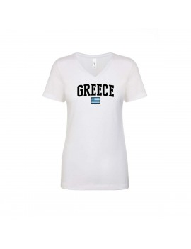 Greece Cup Women's V Neck T-Shirt