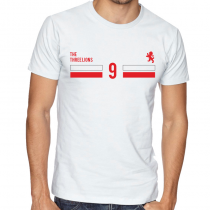 England  Men's Round Neck  T Shirt Jersey  9 Shield