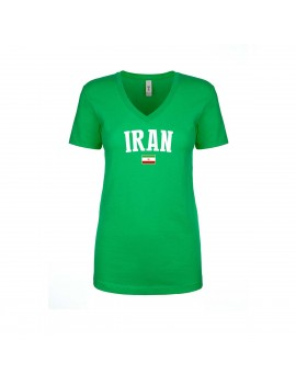 Iran World Cup Women's V Neck T-Shirt