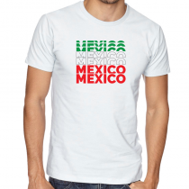 Mexico Men's Round Neck  T Shirt Jersey Mexico letters