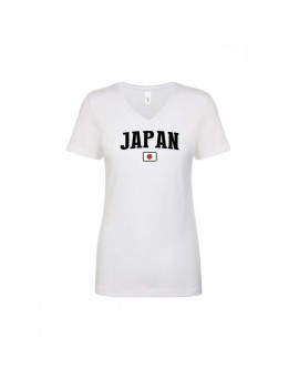 Japan World Cup Women's V Neck T-Shirt