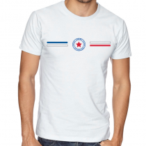 Panama Men's Round Neck  T Shirt Jersey  Shield  Available colors, heather gray, white and other colors as you request