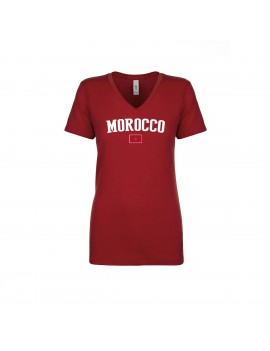 Morocco World Cup Women's V Neck T-Shirt