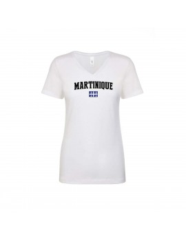 Martinique World Cup Women's V Neck T-Shirt
