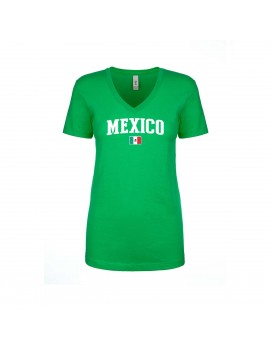 Mexico World Cup Women's V Neck T-Shirt
