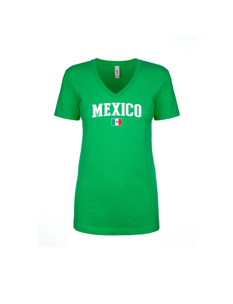 Mexico World Cup Women s V Neck T-Shirt  e4333a5696