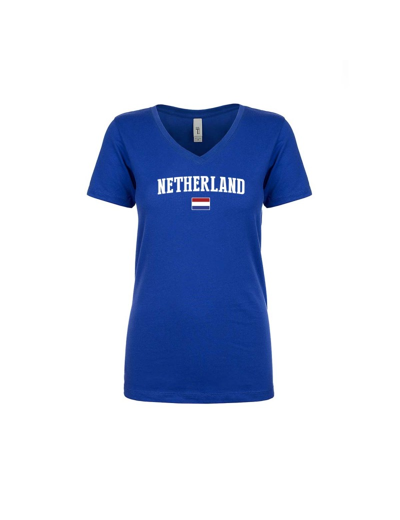 Netherland World Cup Women's V Neck T-Shirt