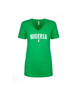 Nigeria World Cup Women's V Neck T-Shirt