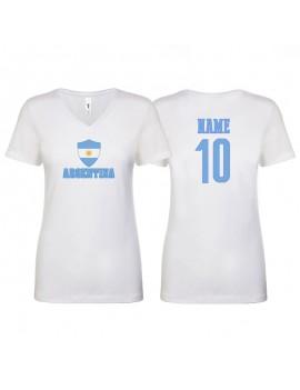 Argentina World Cup Women's V Neck T-Shirt