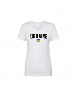 Ukraine World  Cup Women's V Neck T-Shirt