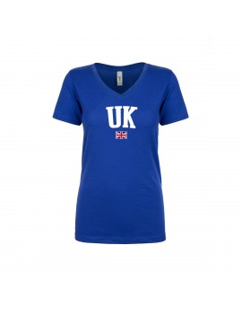 United Kingdom World Cup Women's V Neck T-Shirt