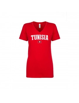 Tunisia World Cup Women's V Neck T-Shirt