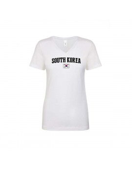 South korea World Cup Women's V Neck T-Shirt