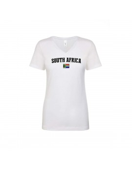 South Africa World Cup Women's V Neck T-Shirt