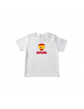 Spain World Cup Center Shield Kid's T-Shirt