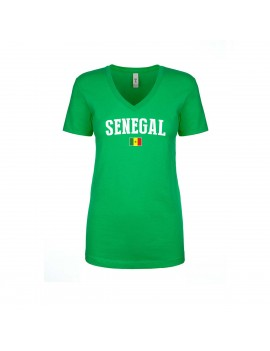 Senegal  World Cup Women's V Neck T-Shirt