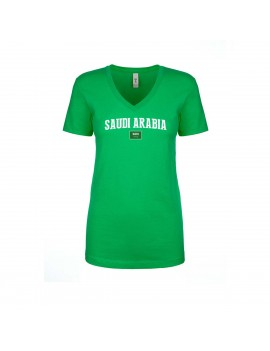 Saudi Arabia World Cup Women's V Neck T-Shirt