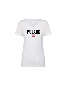 Poland World Cup Women's V Neck T-Shirt